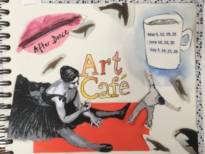 After Dance Art Cafe with a cup of coffee